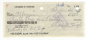 Casey Stengel - MLB HOF - Autographed Canceled Check from 1961