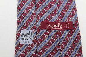 981)  HERMES PARIS (773 UA)  MEN'S  TIE 100% SILK MADE IN  FRANCE