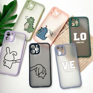 Funny Lover Couple Case for iPhone 12 11 Pro Max XR X 8 7 6s Plus Hard Cover