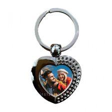 Portachiavi personalizzabile con foto a forma di cuore in acciaio - instantstore