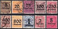 Stamp Germany Official Mi 089-98 Sc O29-32,4-9 1923 Dienst Reich Empire Used