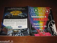 RIVISTA ROMBO 1985/31=CLAY REGAZZONI=CITROEN CX=HONDA XL=NIGHTAWK 650=