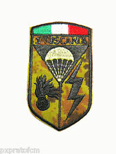 Tuscania Carabinieri Paracadutisti Patch Toppa Mimetica Vegetato Tricolore