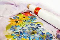 Pure Silk - ponge 5- white £5.69 per metre BARGAIN - free UK postage- 90cm wide