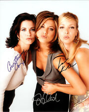 FRIENDS  CAST SIGNED 8X10 PHOTO RP JENNIFER ANNISTON MATHEW PERRY