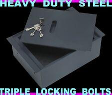 Key Lock Floor Safe 260 x 140 x 400mm Heavy duty construction - underfloor safe