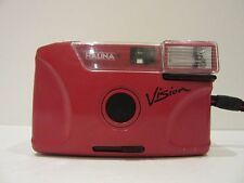 Halina Vision 100 Vintage 1980s Compact Point & Shoot Red Retro 35mm Film Camera