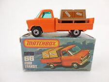 Matchbox Superfast 66 Ford Transit Pick Up Orange Near Mint in K Box NMIB