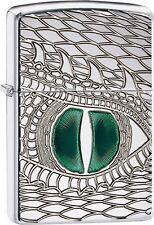 Zippo 28807 Emerald Reptile Eye Armor Engraved Dragon Snake DISCONTINUED Lighter
