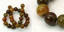 30pcs x 6mmNatural Dragon Veins Agate gemstone beads