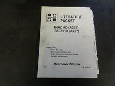 Hyster B60z Hd B80z Hd Forklift User Guide Periodic Maintenance Diagrams Manual
