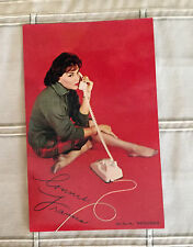 """""""RARE"""" Connie Francis MGM Records Promo Card-Printed Autograph Facilime On Back"""