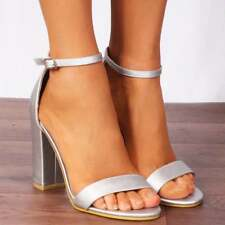 DUSKY PINK BUCKLE STRAPPY SANDALS PEEP TOES HIGH HEELS SHOES SIZE 3 4 5 6 7 8