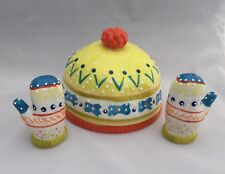 New Anthropologie Snow Day Hat Butter Dish with Mittens Salt and Pepper Fun!