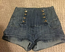 Monday Jeans High Waist Denim Shorts Hotpants