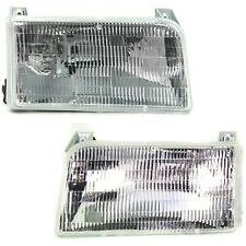 Halogen Headlight Set For 1992 1996 Ford F 150 Left Amp Right With Bulbs Pair