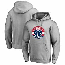 Washington Wizards Primary Logo Pullover Hoodie - Heather Gray