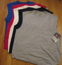 Fruit of The Loom Tag less Muscle Shooter T-Shirt LG 8 pc 5 color 100 % Cotton