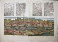 BAYERN REGENSBURG RATISBONA LATEIN SCHEDEL WELT CHRONIK KOBERGER INKUNABEL 1493