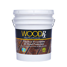 Woodrx 5 Gallon Clear Water Repellent Wood Stain Waterproofing Sealer Exterior