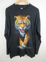 Rock Eagle Riger Mens T Shirt Size XL Crew Neck Black Long Sleeve Single Stitch