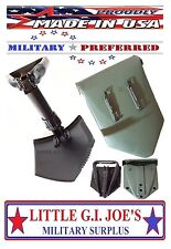 "Military Spec E-Tool Entrenching Shovel & Cover Folding Shovel THE BEST! 23""Long"