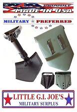 """Military Spec E-Tool Entrenching Shovel & Cover Folding Shovel THE BEST! 23""""Long"""