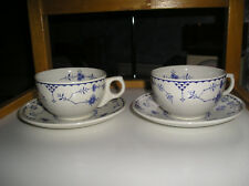 Furnivals  denmark 84  England  2 sets of  tea cups and saucers vgc
