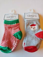 Lot Of New Carter's Baby Socks 3-12m Christmas 4 Pairs Total