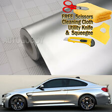 "36"" x 60"" Satin Matte Chrome Metallic Silver Vinyl Film Wrap Sticker Bubble Free"
