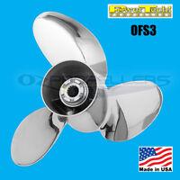 15 1/4 x 15 Honda 115-225HP Power Tech Stainless Propeller OFS3 Blade Prop