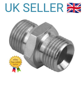 BSP Male to Male Adaptors, Various Sizes Connectors, Industrial Quality Steel