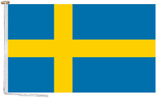 More details for sweden flag with rope and toggle - various sizes