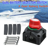 12V/24V Marine 4 Position Changeover Battery Isolator Cut Off Kill Switch m ≈