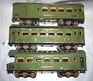 IVES Prewar Wide Gauge 180-181-182 Large Passenger Cars! Parts or Restore! PA