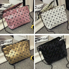 New! Fashion Women Handbags Bao Shoulder Bags Geometry Plaid Casual Bag @222