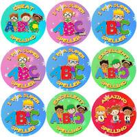 144 Super Speller 30 mm Reward Stickers for School Teachers, Parents, Nursery