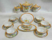 Vintage Hand Painted Lusterware Childs Toy Dishes Tea Set  Service for 6 -26 pcs