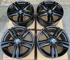 """Genuine BMW 386M 18"""" Alloy Wheels: Gloss Black F20 F21 F22 F23 F87 1 & 2 SERIES"""