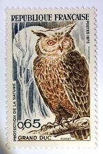 STAMP FRANCE MINT LUXE N° 1694 MNH LE GRAND DUKE BIRDS NIGHT RAPTOR