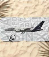 Lufthansa Airbus A380 with Airport Codes - Beach Towel