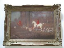 CHARLES EDWARD STEWART PAINTING ANTIQUE 19TH CENTURY IMPRESSIONISM HUNTING DOGS