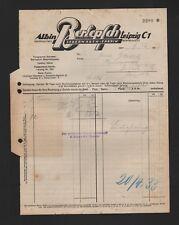 LEIPZIG, Rechnung 1934, Albin Berlepsch Lederwaren-Fabrik