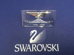 Swarovski Crystal SCS Fabulous Creatures Plaque German - 008721 / SCPCSNR4. MIB
