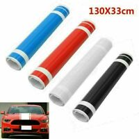 130cm Car Vinyl Graphics Sticker Hood Roof Dual Racing Long Stripe Decals DIY