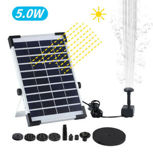 Solar Powered Floating Water Fountain Pump Brushless Motor Solar Fountain