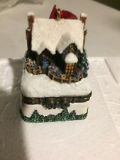 """Thomas Kinkade""~""A Christmas Welcome"",Hinge Box, #6 Ornament,2"",HTF!"
