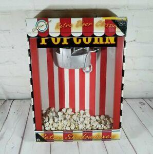 "ICA Home Decor Retro Dinner Classics Shadowboxes Movie Popcorn Machine 10 x 14"""