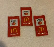 International Spain McDonald's Ketchup Packets - Lot of 3 - NEW - UNOPENED