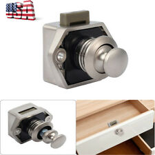 Cupboard Door Push Button Drawer Lock Catch Caravan Motorhome Cabinet Latch Knob